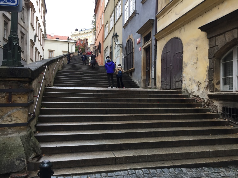 210 steps up to the Castle